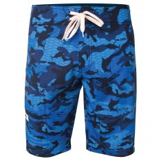SHORT DE BAIN PELAGIC  4-TECH FISH CAMO BLUE