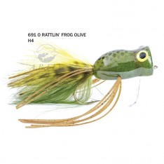 RATTLIN'FROG OLIVE 04 (GRENOUILLE-POPPER BRUITEUSE)