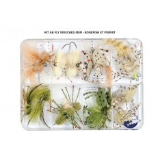 KIT AB FLY - MOUCHES MER - BONEFISH - PERMIT