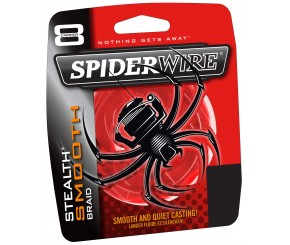 TRESSE SPIDERWIRE STEALTH SMOOTH 8 ROUGE