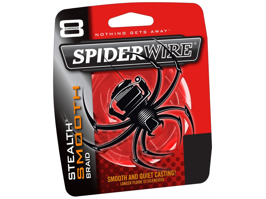 0,11 mm Spiderwire Stealth Smooth 8 New 2020 Fil tress/é 8 Fils avec Micro rev/êtement Rouge 0,05 mm