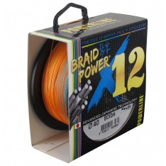 TRESSE POWERLINE BRAID POWER 12 BRINS MULTICOLORE 450 METRES