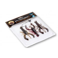 KIT LEURRES SOUPLES SAVAGE GEAR 3D REACTION CRAYFISH  (5,5 CM & 7,5 CM)