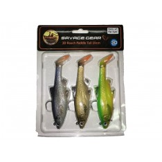SAVAGE GEAR 3D ROACH PADDLE TAIL KITS (7 ,5 - 10 - 12,5 cm)