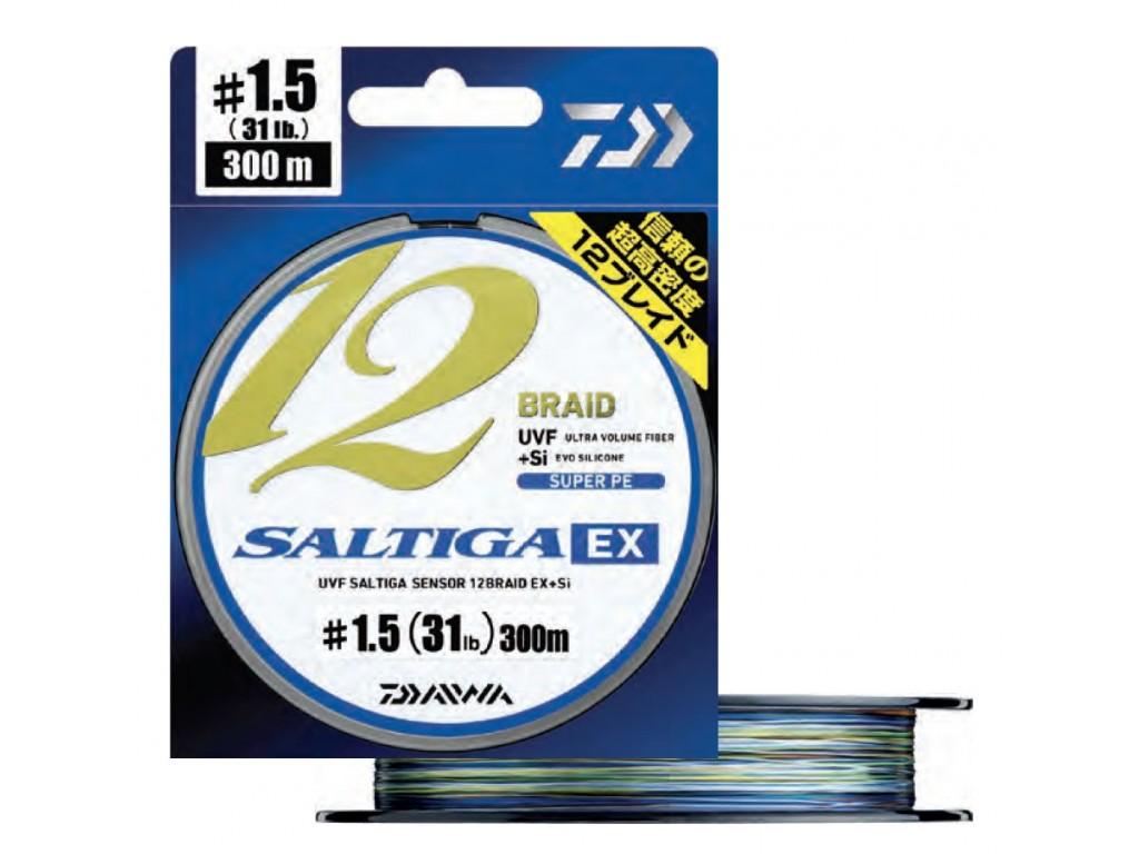5aa73f5be8e TRESSE 12 BRINS DAIWA SALTIGA 12 BRAID EX MULTICOLORE (300 & 600 M ...