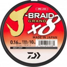 TRESSE 8 BRINS DAIWA J-BRAID X8 GRISE