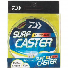 NYLON DAIWA SURFCASTER MULTICOLORE - 4 COULEURS - 300 M