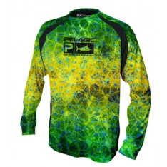 PERFORMANCE SHIRT PELAGIC - CHEMISE TECHNIQUE ANTI UV VAPORTEK HEXED GREEN -M