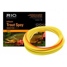 """SOIE RIO INTOUCH TROUT SPEY SHOTTING LINE FLOTTANTE  - SPECIALE CANNES """"SPEY TRUITE"""" : DEUX MAINS 10'6'' - 11'6' - SOIE 2 - 5"""