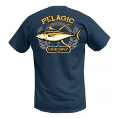 TEE-SHIRT PELAGIC  PATRIOT TUNA TEE (HEATHER NAVY)