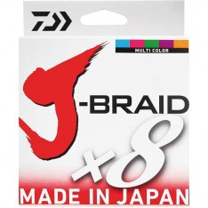 TRESSE DAIWA J-BRAID X 8 MULTICOLORE (150 - 300 - 500 - 1500 M)