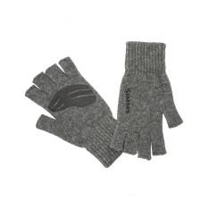 Wool  ½ Finger Glove Steel