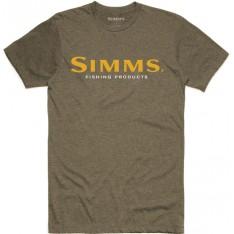 Simms Logo T-Shirt Olive Heather